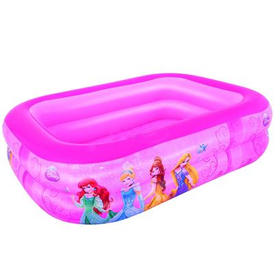 107-082 BESTWAY Бассейн надувной прямоугольный 201х150х51см Disney Princess (91056B)810-465