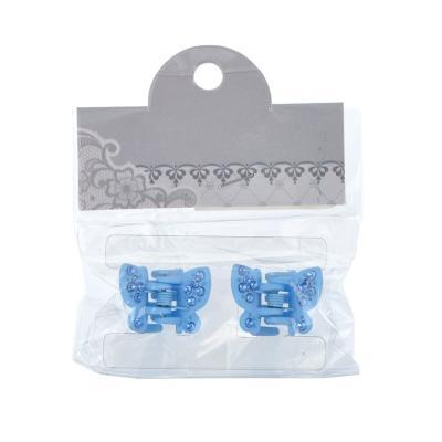 324-087 Набор заколок-крабов для волос 2шт., 2,3 см, пластик, 6 цветов