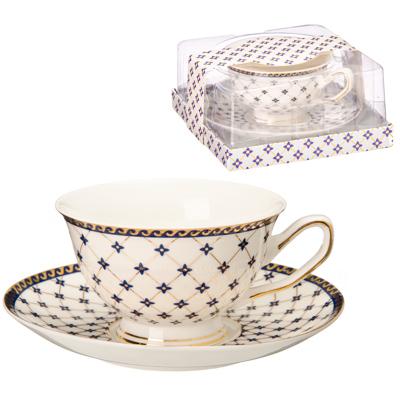 821-414 Делоне Набор чайный 2пр., 200мл, костяной фарфор, подар. уп.