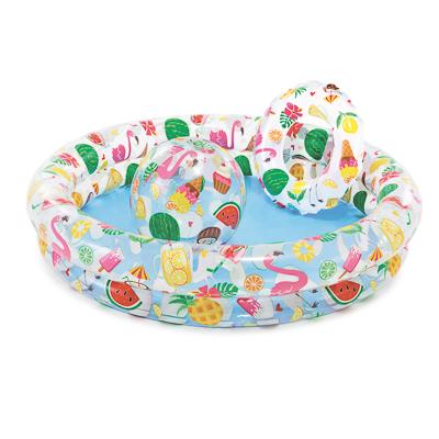 109-049 Набор пляжный 3 предмета: бассейн, круг для плавания 51 см, мяч 51 см, INTEX, 59460
