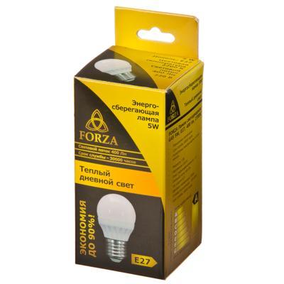 935-057 FORZA Лампа светодиодная G45 5W, E27, 400lm 2700К