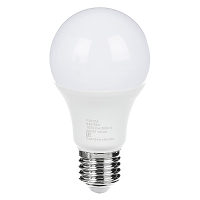 935-060 FORZA Лампа светодиодная A60 12W, E27, 1050lm 3000К