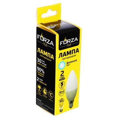 935-061 FORZA Лампа светодиодная свеча С37 5W, E14, 400lm 4000К