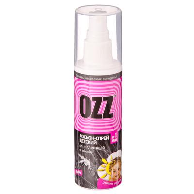 159-138 OZZ Бэби лосьон-спрей детский антимоскитный, с 1 года, 100мл, арт.020804