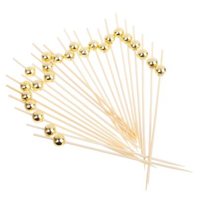 437-205 Шпажки для канапе 24шт, 12см, бамбук, пластик