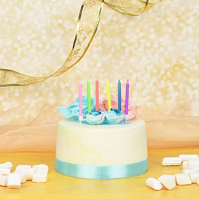 437-235 Набор свечей для торта, 6шт, с цветным пламенем