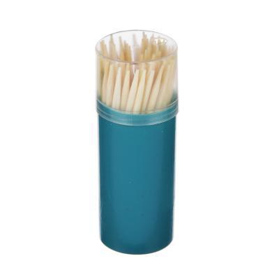 437-239 Зубочистки бамбуковые 60 шт, пластиковая упаковка, VETTA