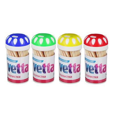 437-241 Зубочистки из бамбука 100 шт, пластиковая упаковка, VETTA
