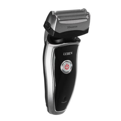 489-040 LEBEN Бритва аккумуляторная 3Вт с триммером для усов, 2 головки, сеточная система бритья, IW-5100