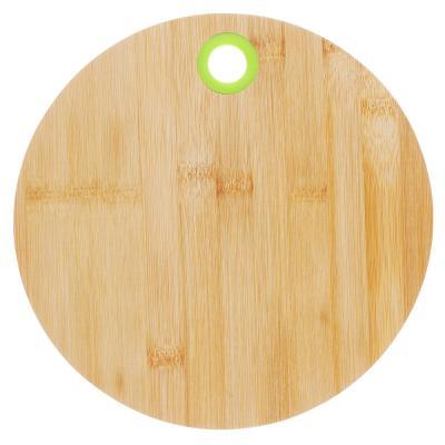 851-145 Доска разделочная деревянная VETTA, d25x1 см, бамбук/силикон