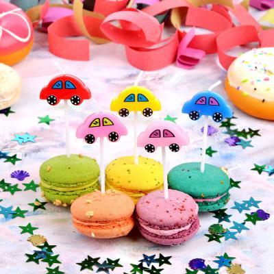 533-012 Набор свечей фигурных с машинами для торта 5шт, парафин, 10х8х2см, Капитан Весельчак