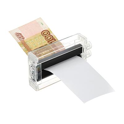 "513-654 Фокус ""Машинка для печати денег"" 12х6,5х2,3см, пластик"