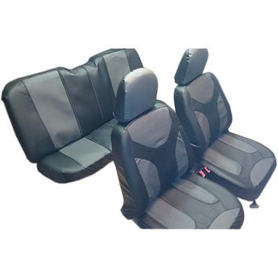 ЕРМАК Экстрим Чехлы автомобильные универ. 15 пр., экокожа с перфорацией, Airbag, темно-серые