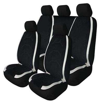 Антара Чехлы автомобильные универ. 9 пр., алькантара, Airbag, черные