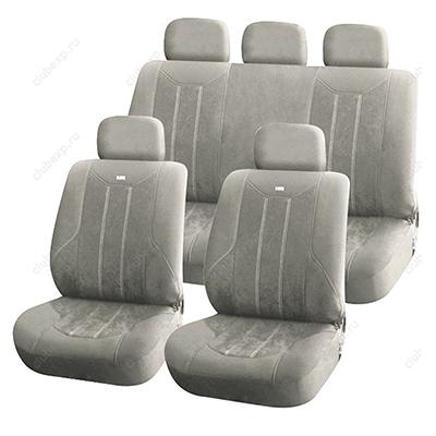 768-425 ЕРМАК Антара Чехлы автомобильные универ. 9 пр., алькантара, Airbag, серые