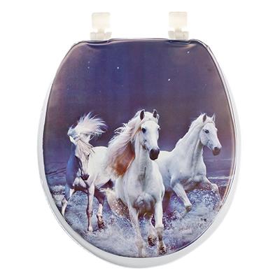 463-723 Сиденье для унитаза ПВХ, 40х36см, с изображением лошади