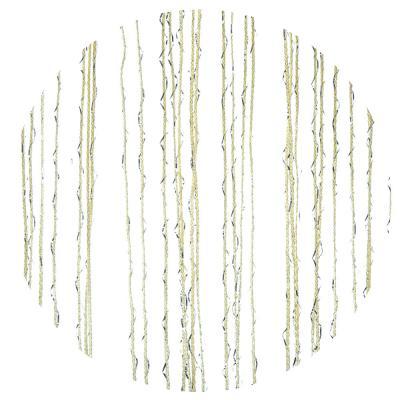 491-364 Занавеска нитяная межкомнатная однотонная, полиэстер, 1х2м, 5 цветов