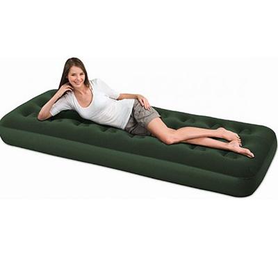106-003 BESTWAY Кровать надувная 188х99х22см, 1,5-местный, флок, 67447