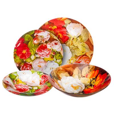 830-327 VETTA Розы Набор столовой посуды 19 пр. стекло, S3000/19