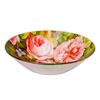 830-329 VETTA Розы Салатник стекло 178мм, S302007, Дизайн GC