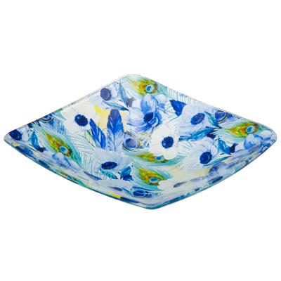 830-339 VETTA Анемоны Набор салатников квадратных 6шт, 15,2см, стекло, S312006N/6, Дизайн GC