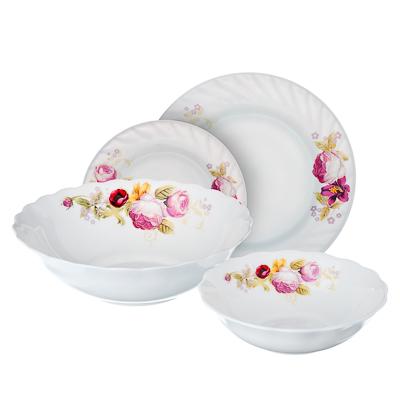 818-787 VETTA Нефела Набор столовой посуды 19 пр., опаловое стекло, W-19B6