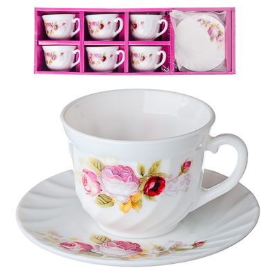 818-867 VETTA Нефела Набор чайный 12 пр., опаловое стекло, XWB190HP55-6