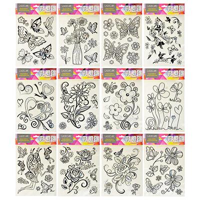 503-375 Наклейка интерьерная, 31х20см, пластик, 12 дизайнов, арт.15-002