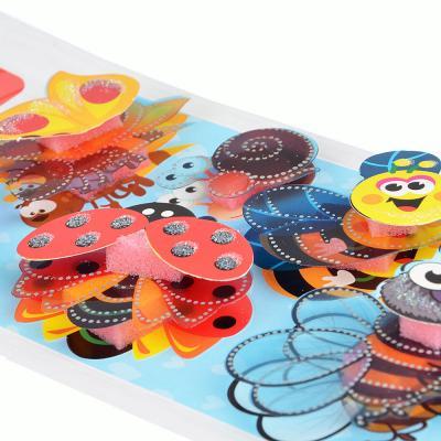 503-381 Наклейка детская 5D, 23х11см, пластик, бумага, 6 дизайнов, арт.12-00