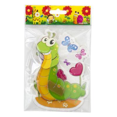 503-382 Наклейка детская с насекомыми 5D, 15х11см, пластик, бумага, 12 дизайнов, арт.12-01