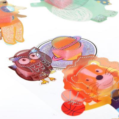 503-384 Наклейка детская 5D, пластик, бумага, 4 дизайна арт.12-03
