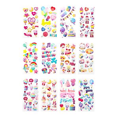 503-387 Наклейка детская, 17,5х7см, пластик, 6 дизайнов, арт.12-06