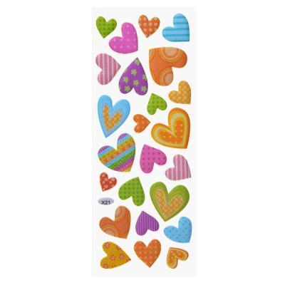 503-418 Наклейка детская, 27x9,5см, пластик, 7-9 дизайнов, арт.12-09