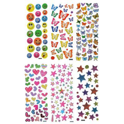 503-419 Наклейка детская, 20х7,5см, пластик, 5-7 дизайнов, арт.12-10