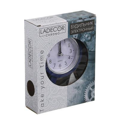 529-058 Будильник электронный, пластик, 15х11х4 см, 1хАА, 4 цвета, LA DECOR