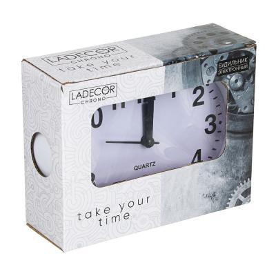 529-062 Будильник электронный, 13х10х4 см, овальный, пластик, 1хАА, 2 цвета