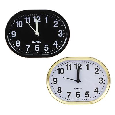 529-062 Будильник электронный, 13х10х4см, овальный, пластик, 1хАА, 2 цвета, арт.0019