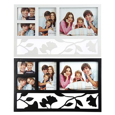 520-356 Фоторамка на 4 фотографии, пластик, 44х27см, 2 цвета, арт.17-07