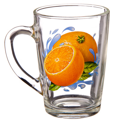 "879-106 ОСЗ Кружка стеклянная, 300мл, ""Апельсин"", 07с1334-40"