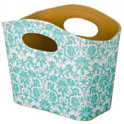 """416-111 Сумка-подставка для мелочей, ПВХ, искусств.кожа, 20x11x15см, """"Blue design"""""""