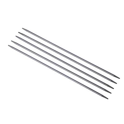 308-167 Комплект спиц вязальных чулочные, 5шт, металл, размер 3,0, длина 20см