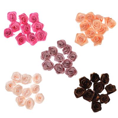308-176 Набор цветов для декора 10шт, 100% полиэстер, d3,5см, 5 цветов, #SWF2015-7