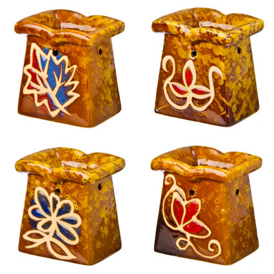 "536-228 Аромалампа ""Флора"", 8х7х5,5см, керамика, 4 дизайна"