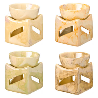 "536-230 Аромалампа ""Вертикаль"", 7,5х7х7см, керамика, 4 дизайна"