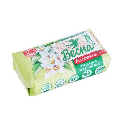 952-002 Мыло твердое Лесная Полянка Ромашка/Весна Жасмин и зелёный чай,к/у 90г,6084/1100-2