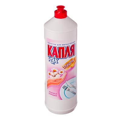 992-003 Средство для мытья посуды Капля VOX хлопок и ромашка, п/б 1000гр, арт.9027