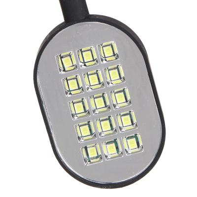 198-036 ЧИНГИСХАН Фонарик гибкий 15 SMD LED, 3xAAA, алюминий, 30х4 см
