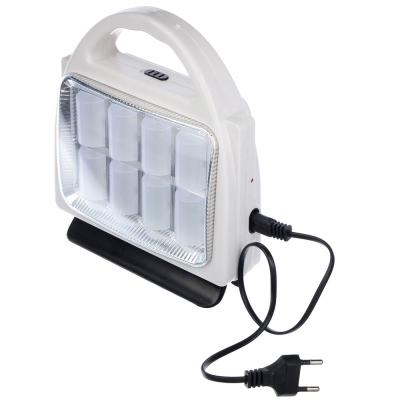 198-039 ЧИНГИСХАН Фонарь-светильник с ручкой 8(32) SMD LED, 3xD / шнур 220В, пластик, 21x17 см