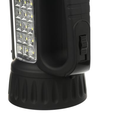 198-041 ЧИНГИСХАН Фонарь прожектор аккумуляторный18 SMD + 1 Вт LED, шнур 220В, резинопластик, 18x11 см