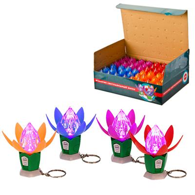 198-043 Фонарик светодиодный мини, 1 LED, пластик, 6,5х2,9см, 4 цвета